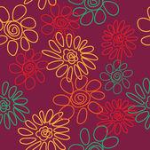 Art vintage floral red background — Stock Vector