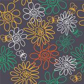 Art vintage stylization floral background — Stock Vector