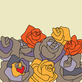 Sztuka tło kwiatowy róż — Wektor stockowy