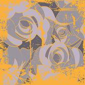 искусство гранж цветочный рисунок графический фон — Cтоковый вектор