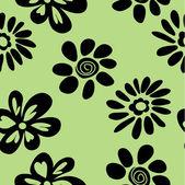 Konst skissa blommig ritning grafisk bakgrund — Stockvektor