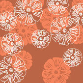 Art vintage sketching floral background — Stock Vector
