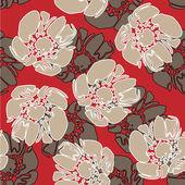Art vintage floral seamless pattern background — Stock Vector