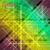 Kunst abstrakt farbigen hintergrund mit platz für nachricht — Stockvektor