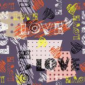 Art seamless graffiti background pattern — Stock Vector
