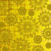 Art vintage floral pattern on golden background — Stock Vector