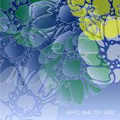Art vintage floral transparency background — Stock Vector