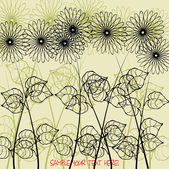 Art vintage floral background for family happy holidays — Stock Vector