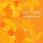 Art autumn vintage background — Stock Vector