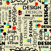 Art vintage word pattern background — Stock Vector