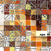 Art beautiful flower background — Vector de stock
