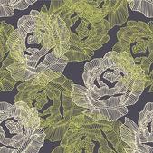 Art roses seamless ornament grunge background — Stock Vector