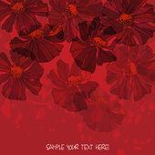 Arte bella di fiori sfondo — Vettoriale Stock