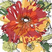 Art beautiful flower background — Stock Vector
