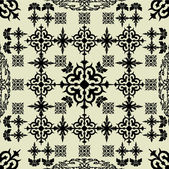 Kunst vintage vector naadloze patroon achtergrond — Stockvector