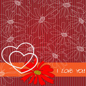 Art two hearts vector background — Stock Vector