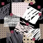 芸術のシームレスな背景パターン — ストックベクタ