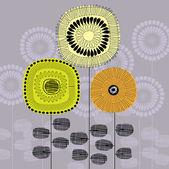 Art beautiful floral vector background — Stock Vector