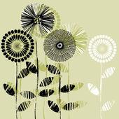 Konst vackra skissa blommor, bakgrunden för du semester med utrymme för text — Stockvektor