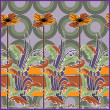 Vector de stock : Art deco seamless pattern with stylization flowers