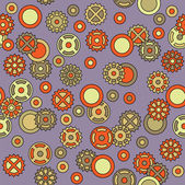 Kunst naadloze vintage sier floral patroon — Stockvector