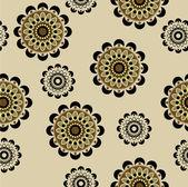 Kunst naadloze decoratieve bloemen vintage patroon — Stockvector
