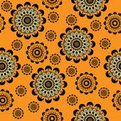 Kunst naadloze sier vintage patroon — Stockvector