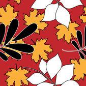 Art stylization leaves seamless pattern — Stock Vector