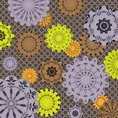 Art vintage floral pattern seamless vector — Stock Vector