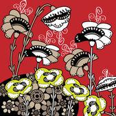 Sanat Stilizasyon çiçek tatil kartı — Stok Vektör