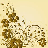 Art floral background — Stock Vector