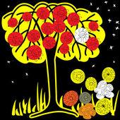 芸術の花の背景 — ストックベクタ