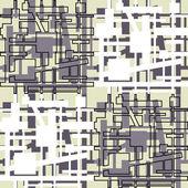 Fondo de arte geometrico vintage estilo mondrian — Vector de stock