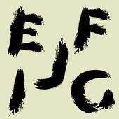 艺术组的向量中的程式化草绘字母表 — 图库矢量图片