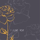 Art sketching roses vector background — Stock Vector