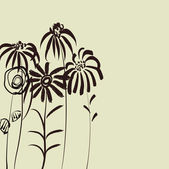 Art sketching floral vector background — 图库矢量图片