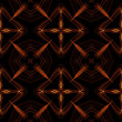 Art vintage fiery geometric ornamental pattern — Stock Photo
