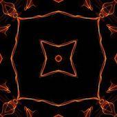 Art vintage fiery geometric ornamental pattern — Stock Photo