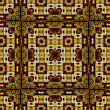 Art nouveau geometric ornamental vintage pattern in brown — Stock Photo #42336413