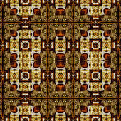 Nouveau del arte ornamental vintage geometrico en marrón — Foto de Stock