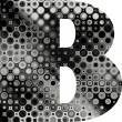 Stock Photo: Art painted halftone alphabet