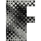Art painted halftone alphabet — Stock Photo