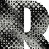 Искусство окрашенные полутоновых алфавит — Стоковое фото