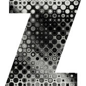 Art painted halftone alphabet — Stock Photo