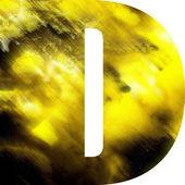 Umění rozmazané sklo abeceda — Stock fotografie