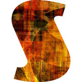 Art painted alphabet — Stock Photo