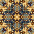 Art nouveau colorful ornamental vintage pattern — Stock Photo