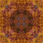 Patrón vintage ornamentales arte en colores marrón y azules — Foto de Stock