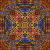 Art ornamental vintage pattern in brown and blue colors — Photo