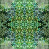 Art nouveau ornamental vintage pattern in green colors — Stock Photo